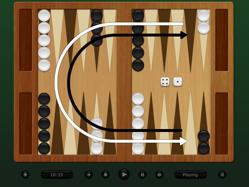 backgammon start moves