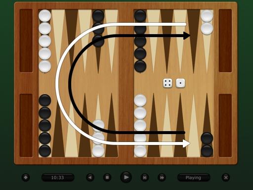 Aufbau Backgammon